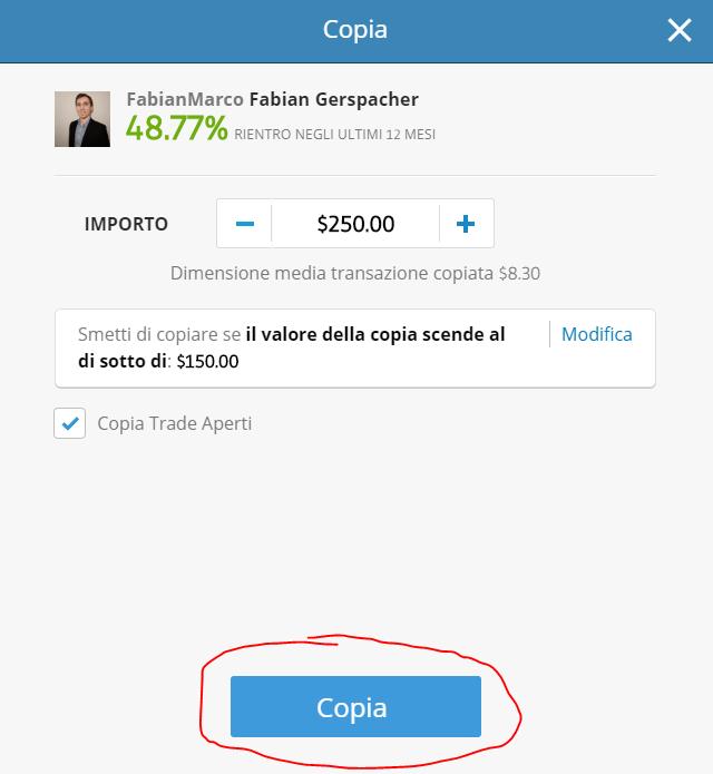 copy trading etoro passo 3