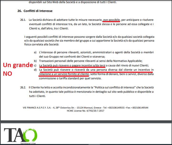 TaoTrade, documentazione legale